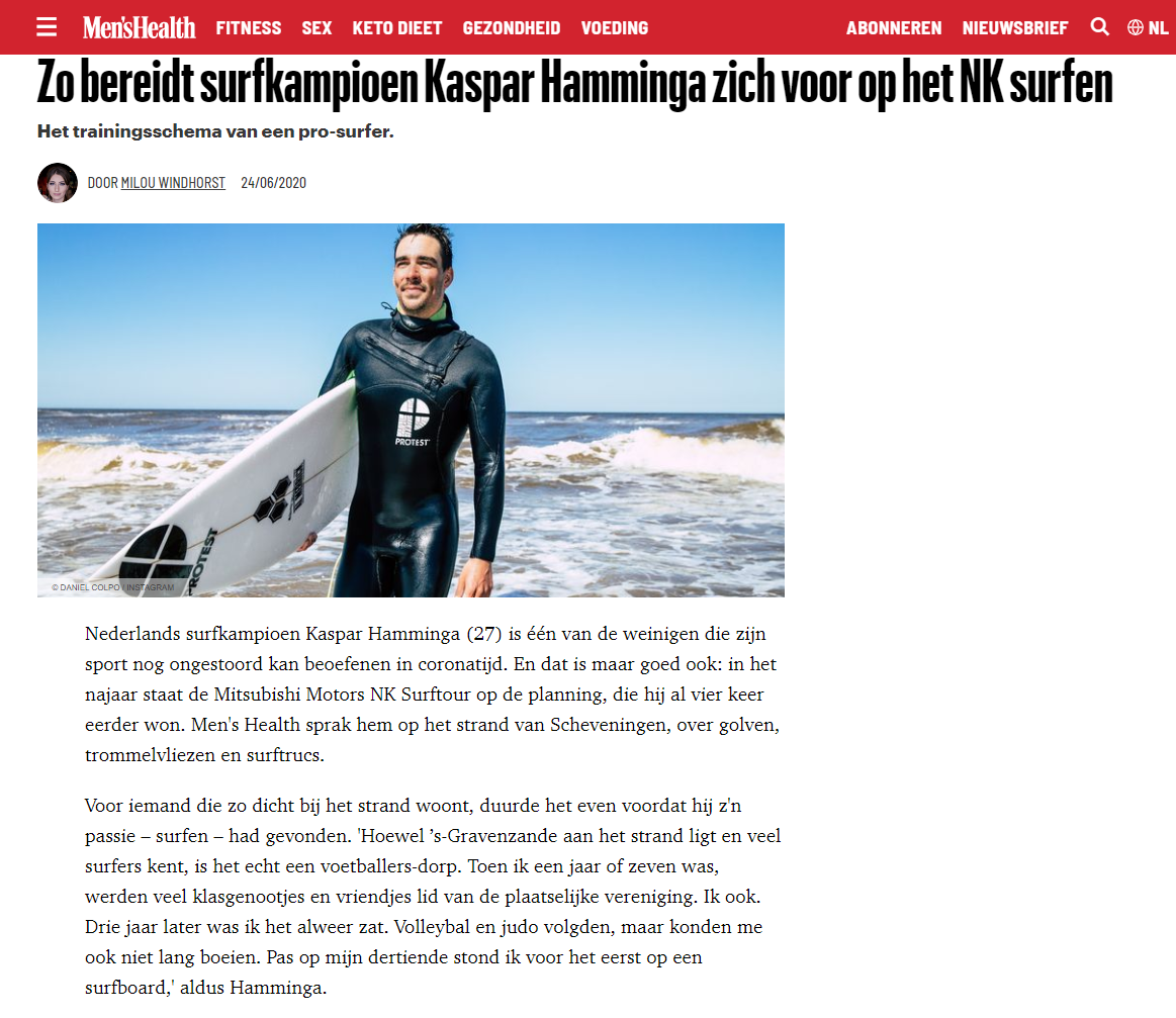 Kaspar in de Men's Health